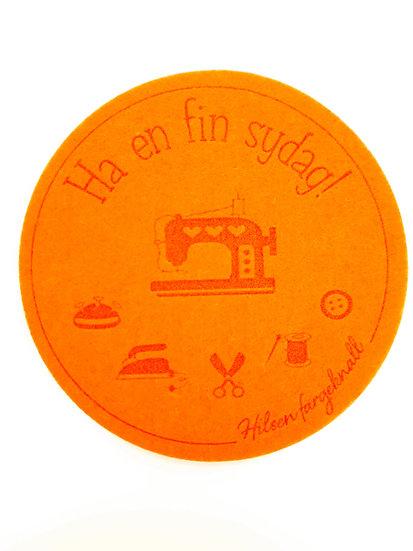 filt brikke til glass og kaffeekopp, oransje