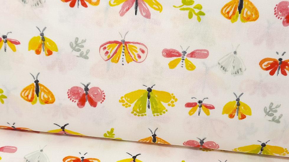 Aerial Tamara Kate, sommerfugler på ecru, 0,5 m