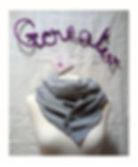 foulard astucieux Crayonnage bleu creation gcreativ