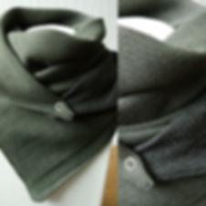 foulard astucieux Kaki mix