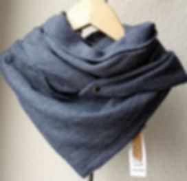 foulard astucieux stella denim bleu argent