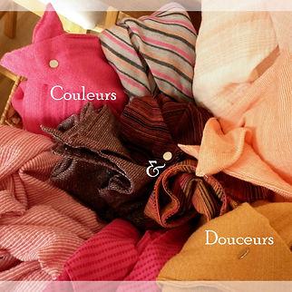 foulards astucieux couleurs et matières
