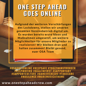 ONE STEP AHEAD GOES ONLINE