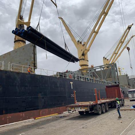 Break Bulk shipment for Carbon steel pipes fron China to Um Qaser
