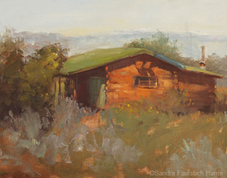 Tucked Away Cabin oil 11 x 14