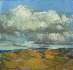 Hills and Shadows 8 x 8 oil