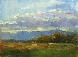Clouds Gathering 6 x 8 oil