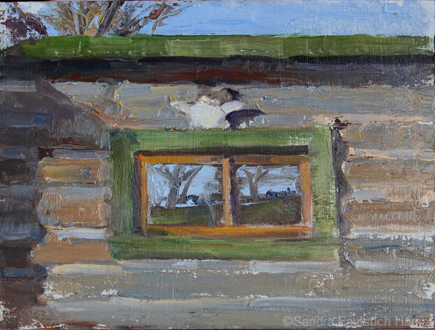 View from the Cabin 6 x 8 oil