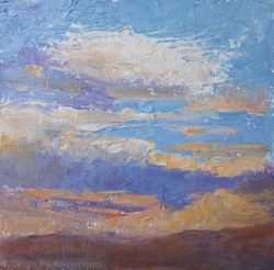 Glorious End of Day 8 x 8 oil