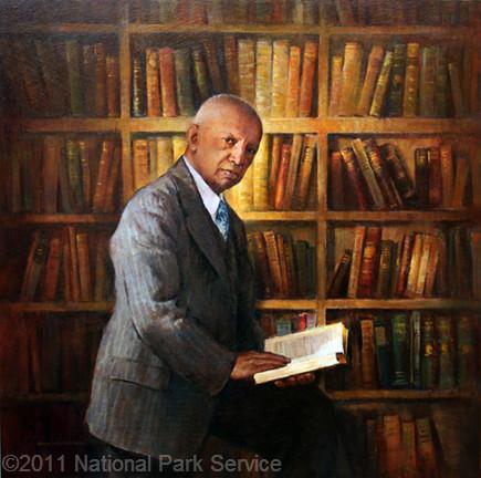 Portrait of Carter G Woodson