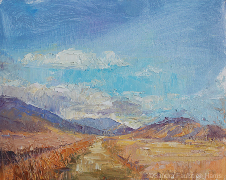 Heading to the Bighorns 8 x 10 oil