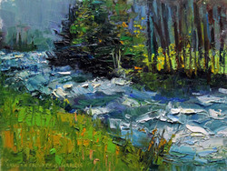 On the Banks of Rock Creek 6 x 8 oil