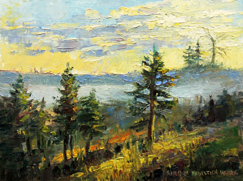 Fog in the River Valley 6 x 8 oil