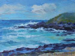 Ho'okipa Beach 6 x 8 acrylic