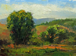 Green Pastures 6 x 8 oil