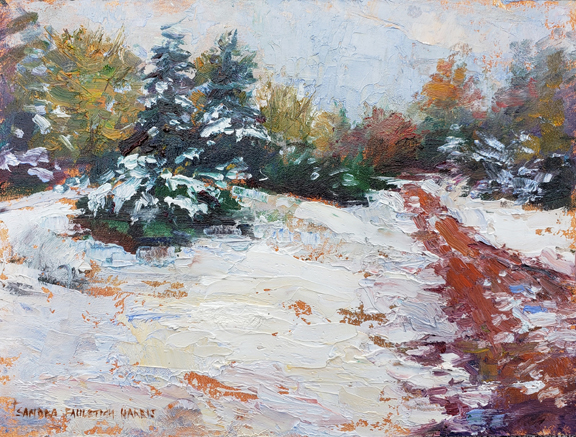 Fresh Snow 6 x 8 oil