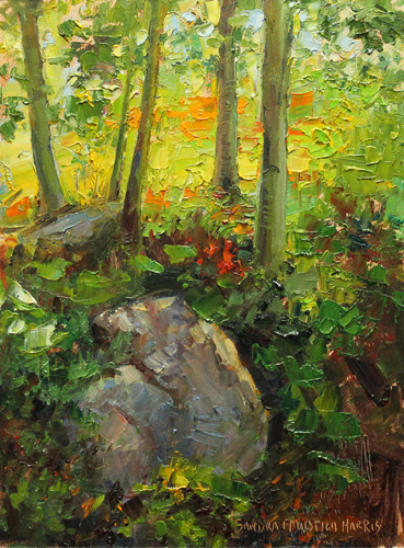 Leaning into Fall 8 x 6 oil