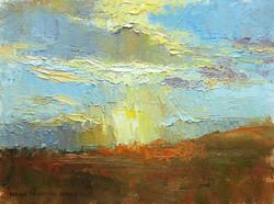 A Blast of Light 6 x 8 oil
