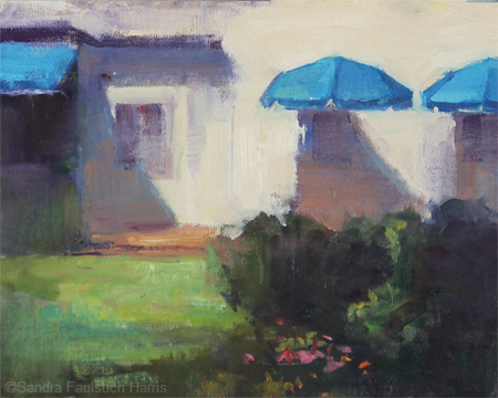 Blue Awnings 8 x 10 oil