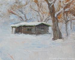 Thomas LaForge Cabin 6 x 8 oil