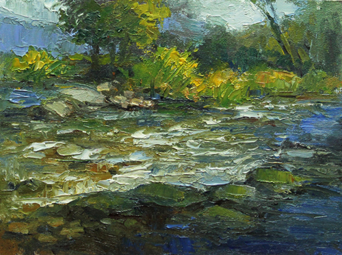 Tongue River 6 x 8 oil