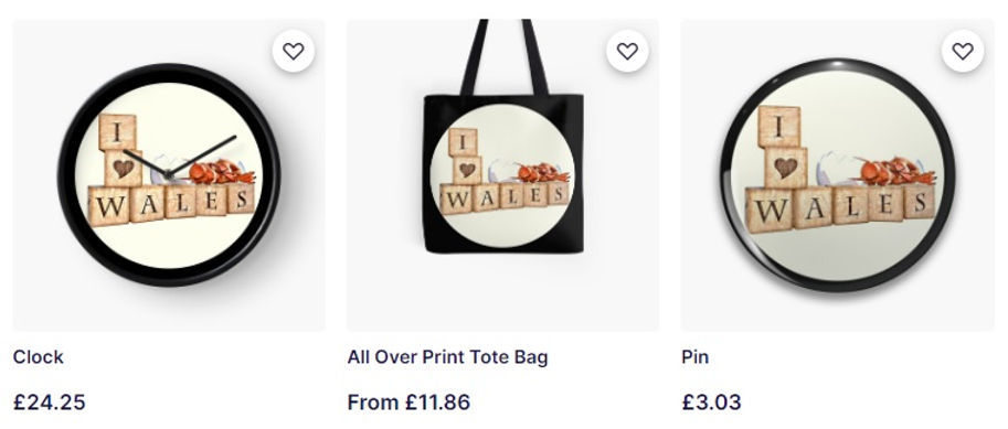 Welsh collection - I heart Wales product