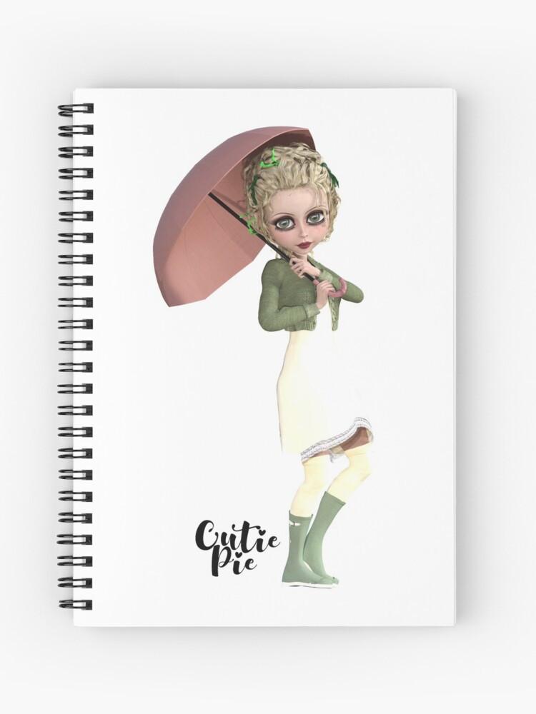 CutiePie Rainy Day spiral notebook