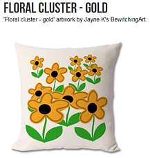 Floral Cluster - gold cushion.jpg