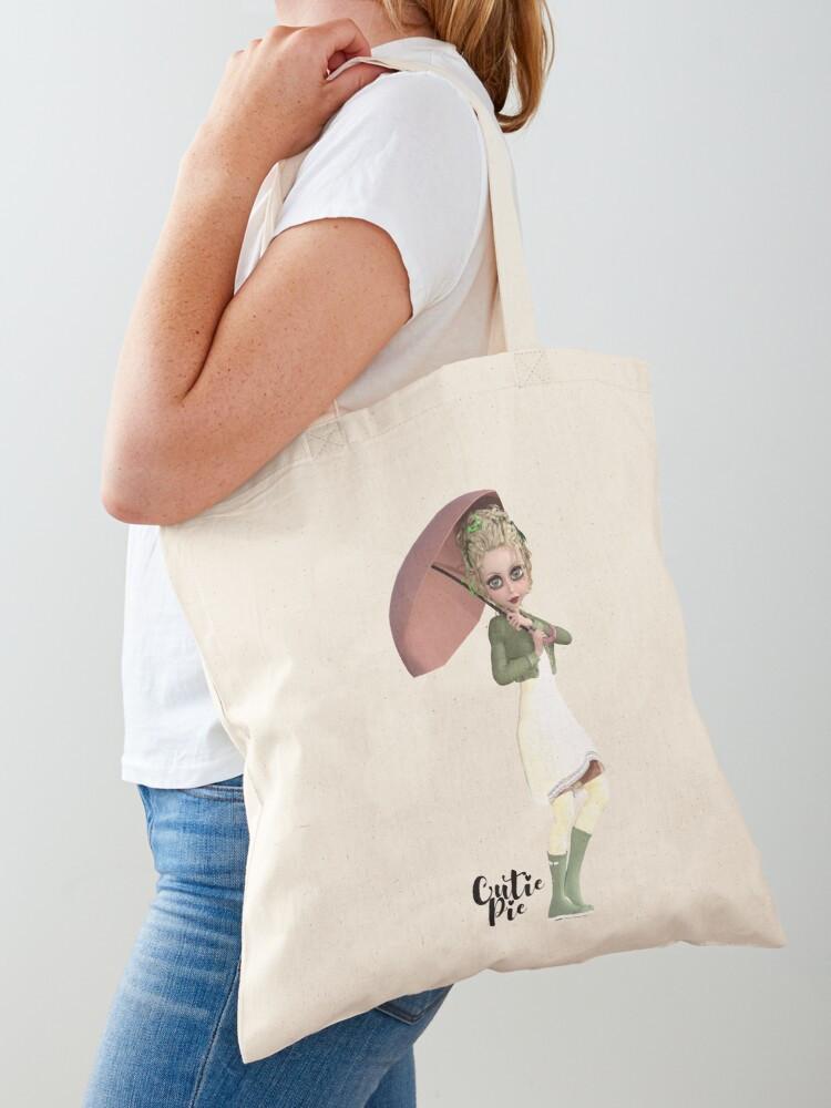 CutiePie Raiy Day cotton tote bag