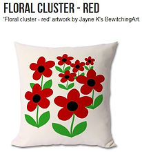 Floral Cluster - Red cushion.jpg