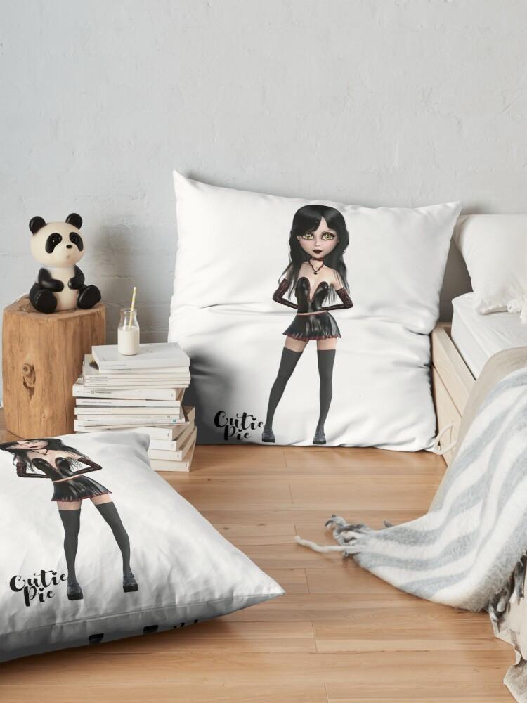 CutiePie Goth floor pillow