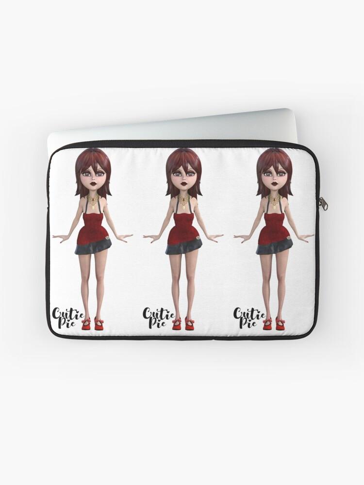 CutiePie Red laptop sleeve