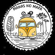 Logomarca Manas no Mapa