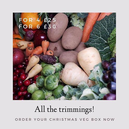 Christmas fruit & veg box for 6