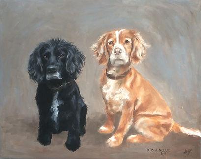 Sophie, Whaley, Animal, Portrait, Dog, Oil, Paint