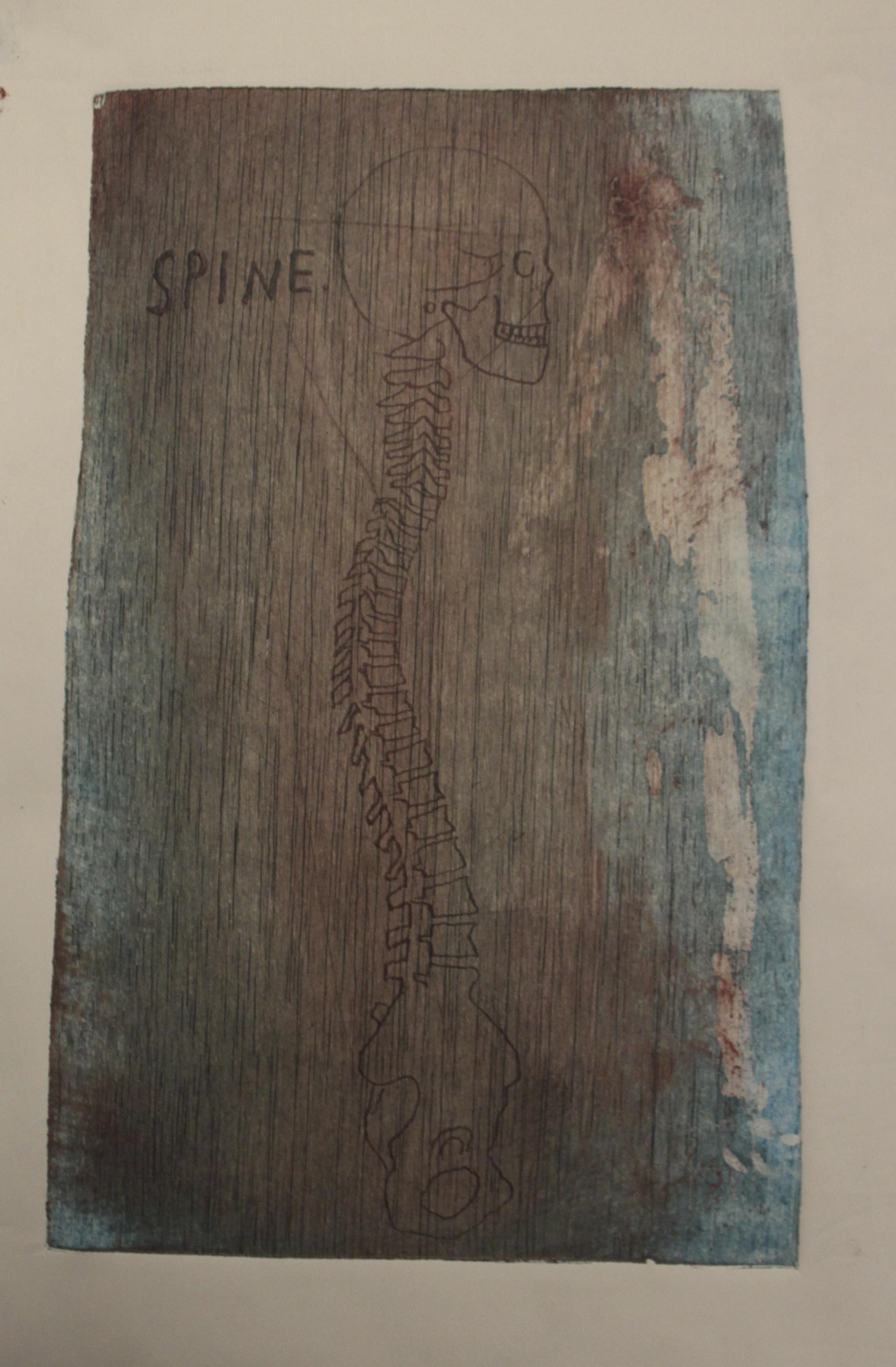 Wood-cut print