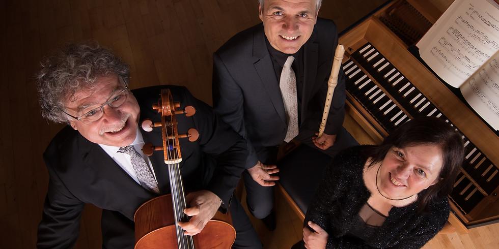 """Allensbach (D): Barockkonzert mit dem Trio """"Les Nations"""" in der Gnadenkirche Allensbach (D)"""