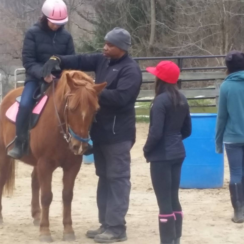 Learning how to hold the reins