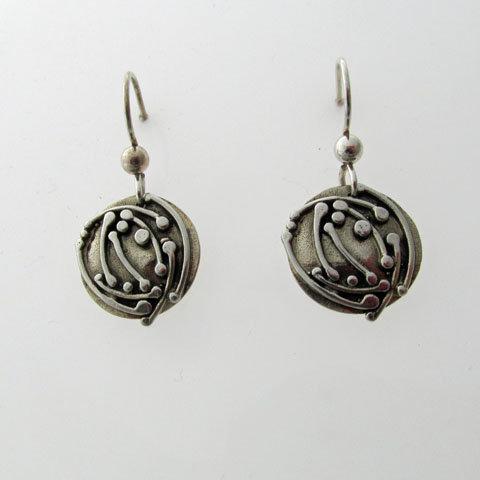 C14 Art nouveau twig drop earring