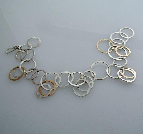 Br15 Jingly mixed metal bracelet