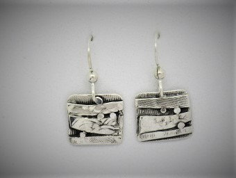 B9 Birches beautiful abstract earring