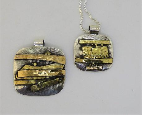 Wa10 silver & 22k gold pendant