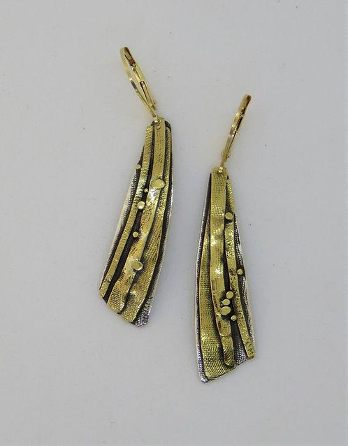 Dwa6 silver & 22k gold earring