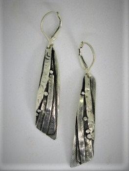 Wa3 sterling silver earring