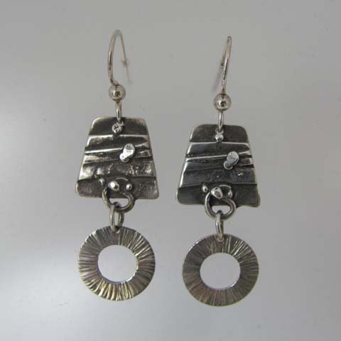 C10 Textured dangle earring