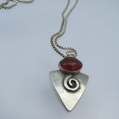 NC-C1 Triangle with  w/stone pendant