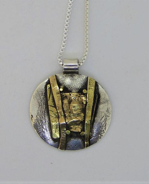 Nc-wa11 silver & 22k gold pendant