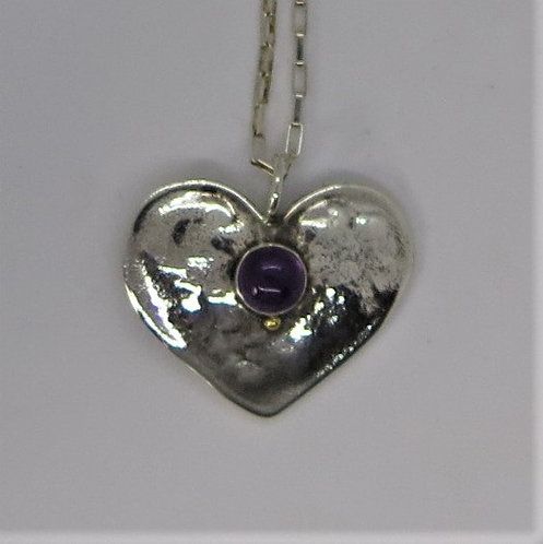 H3  Large Heart with Amethyst
