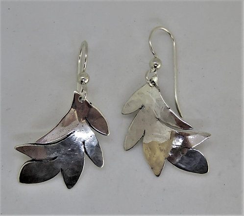Leaf-2 sterling earring