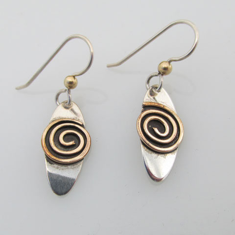 Sp1 Oval spiral earring